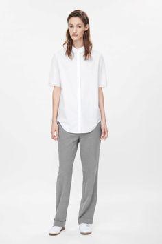 COS | Curved-hem cotton shirt