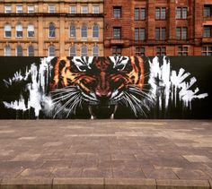 Streetart by Klingatron in Glasgow, Scotland, via Street Art ( Graffiti Art, Murals Street Art, Street Art News, 3d Street Art, Street Artists, Dojo, Art Tigre, Scotland Landscape, Pop Art
