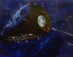 Asteroid Mining Colony - Pics about space