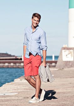 casual summer outfit #casual #summer #menstyle #menswear #shorts #shirt #RMRS