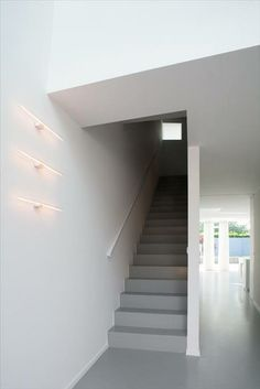 House Beo in New Zealand - notice the clever way of mounting the fluorescent tubes, they are like art!