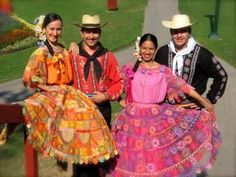 3. This is what the traditional clothing in Paraguay would look like. They like bight colors and you might also see them wearing ponchos.