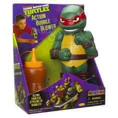 TMNT Action Bubble Blower- Raphael