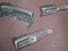 20x25 mauve canson paper. Prismacolor, gouache, Original Gump. Lincoln dash design, dated 2-20-68