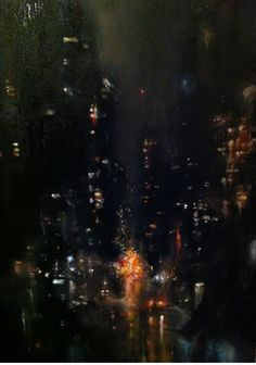 Marks and Avenue Something. My brother Seth sat out in the garage with me tonight, playing old Tom Waits songs on his guitar and smoking cigarettes while I painted. We shared a bottle of his. Nocturne, Moonlight Painting, City Art, Large Painting, Urban Landscape, City Lights, Urban Art, Artsy Fartsy, Art Inspo