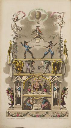 George Cruikshank (British, 1792-1878), Life in Paris. Book with aquatint, woodcut, and letterpress, 1822