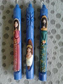 HAND CARVED CANDLE, VELAS TALLADAS Carved Candles, Nativity, Hand Carved, Carving, Hand Soaps, Births, Xmas, Candles, The Nativity