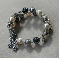 """Angels - Archangels"" One decade, rosary wrap bracelet, www.AveMomma.com.  $29.95"