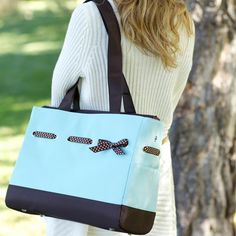 Classic Tote Diaper Bag Set - Chocolate Ice by JP Lizzy | Designer Diaper Bags    available at www.duematernity.com  FREE Bella B Baby Wipes with purchase!