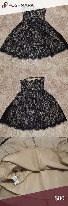 🌷TONIGHT ONLY PRICE🌷Neiman Marcus dress! NWT! Neiman Marcus Robert Rodriguez dress. Size 4 with tags. Black lace detail top layer. Multi layer underneath. Zipper back. See picture for length. Wire in bodice top. Bow on the front. Super cute detail. Lovely dress!   Please ask if you need further details.  I am not responsible if clothing does not fit. Neiman Marcus Dresses