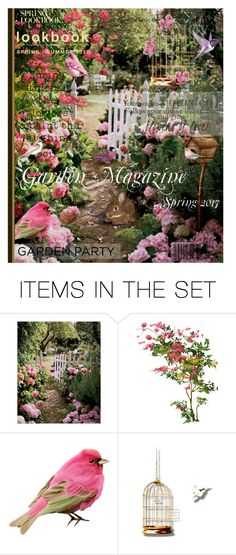 """Garden Magazine - Spring 2017"" by queenrachietemplateaddict ❤ liked on Polyvore featuring art"