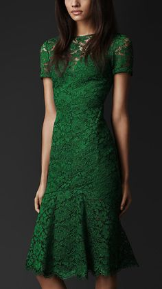 Cut-Out Back Lace Dress | Burberry