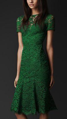 Cut-Out Back Lace Dress | Burberry