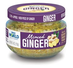 Great in marinades, stir fry, soups, curry, and even on steaks, our new Minced Ginger saves you time and adds tons of flavor! Look for it in our familiar jars where you buy Spice World products.