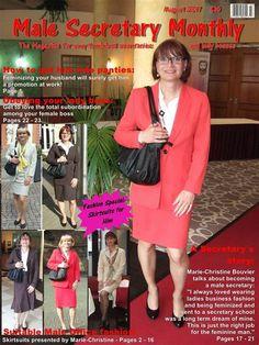 Male Secretary August 2017 - sissy - Women in Uniform Secretary Outfits, Magazin Covers, Feminized Boys, Sissy Maid, Female Supremacy, Boss Lady, Crossdressers, Feminine, Husband