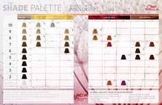 Wella Professionals Koleston Perfect Innosense Shade Palette.