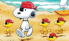 Snoopy and his pirates