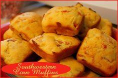 Southwestern Corn Muffins  http://www.momspantrykitchen.com/southwestern-corn-muffins.html