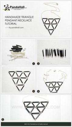 Handmade Triangle Pendant Necklace Tutorial: 3 Steps with Pictures