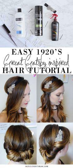 Easy 1920's Great Gatsby hair tutorial AD | oliveandivyblog.com