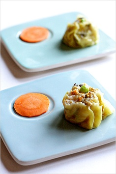 Chicken Shu Mai - Steamed Chicken Dumplings. While shu mai is traditionally made with pork, I made a chicken version for my Muslim readers