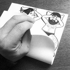 HuskMitNavn artiste danois à Copenhague  dessins pliés
