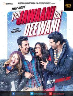 Photo of Deepika Padukone in glasses with Ranbir Kapoor in Yeh Jawaani Hai Deewani Poster