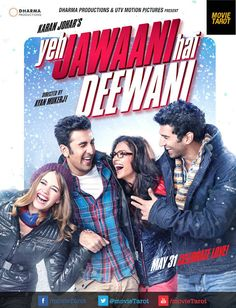 Photo of Deepika Padukone in glasses with Ranbir Kapoor in Yeh Jawaani Hai Deewani Poster