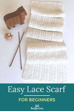 Easy Lace Scarf for Beginners This beautiful scarf is a great way to start knitting lace. Simple knits and purls on DK weight yarn. Get your free patt. patterns free scarf lace Easy Lace Scarf for Beginners Easy Scarf Knitting Patterns, Lace Knitting, Knit Crochet, Crochet Stitches, Knit Lace, Tunisian Crochet, Dishcloth Crochet, Mandala Crochet, Knitting Paterns