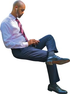 Business man sitting using phone People Cutout, Cut Out People, Human Poses Reference, Pose Reference Photo, Sitting Poses, Man Sitting, Render People, People Png, Poses Photo