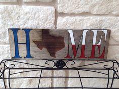 "Rustic Texas ""HOME"" sign Texas Diy, Texas Crafts, Black And White Valance, Shes Like Texas, Texas Things, Texas Forever, Loving Texas, Texas Pride, Lone Star State"