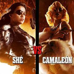 "Michelle Rodriguez and Lady Gaga in ""Machete Kills""! A Robert Rodriguez film. 2013."