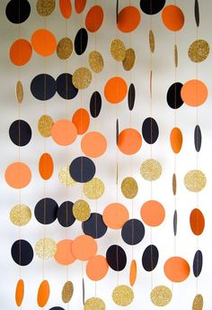 Halloween Garland Paper Garland in Black by TheLittleThingsEV