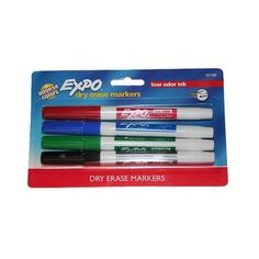 Expo Fine Tip Dry Erase Marker in Assorted Colors - 4ct ($3.64) ❤ liked on Polyvore featuring home, home improvement and cleaning