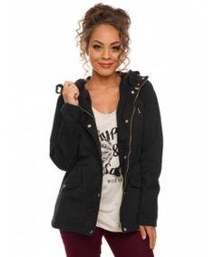 Zipper Buttons Pockets Hooded Long Sleeve Hoodies Jacket