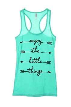 Enjoy the little things Graphic Tank. #shoplovejune #summer #ootd #fashion #boutique