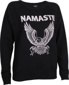 6db93eaed15e29 OGNX - OGNX Yoga Sweatshirt Namaste Eagle Damen Schwarz   Avocadostore