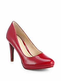Every single season. Cole Haan - Chelsea Patent Leather Platform Pumps