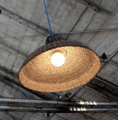 Designer original loft hanging lamp Industrial by BarborkaDesign