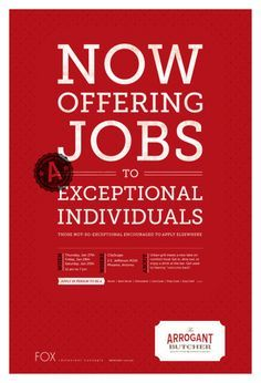 creative job recruitment poster - Google Search | Recruitment ...