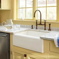 A Kitchen Goes From Bare Bones To Cottage Charming. FARMERu0027S SINK!!!
