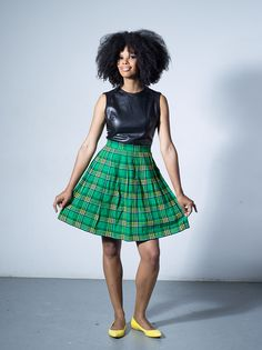 Gugulethu pleated skirt by Tatusi