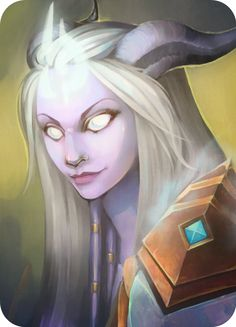Purple and grey. Draenei by Katheairene