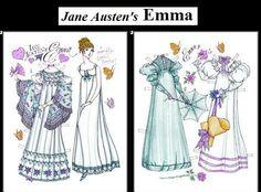 Jane Austen's EMMA, A Comedic Victorian Novel   Paper Doll by Donald Hendricks