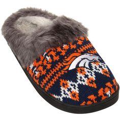 Denver Broncos Women's Aztec Slide Slippers