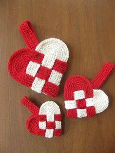 Danish heart decorations - I remember making paper ones :)