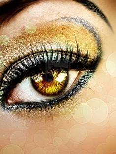 Illustrious Digital Art: Photo Manipulation Artworks of the Human Eye Pretty Eyes, Cool Eyes, Color Guard Makeup, Dance Competition Makeup, Cheer Makeup, Rare Eyes, Golden Makeup, Dance Makeup, Performance Makeup