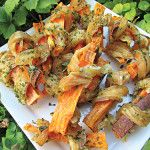 """Healthy Dog Treats: Chicken-Wrapped Sweet Potato """"Bones"""" - Clean Eating"""
