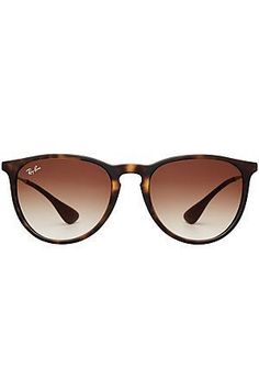 Ray-ban's sleek 'Erica' silhouette is a future classic, complete with a tortoiseshell printed frame and flattering brown lenses #Stylebop