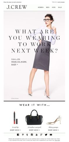 J.Crew 01.2014  What are you wearing to work next week?